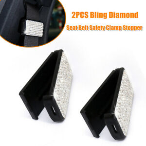 2xbling Car Accessory Seat Belt Safety Clamp Stopper Adjuster Holder Buckle Clip