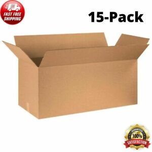 15 pack 36 x14 x14 Long Cardboard Corrugated Shipping Boxes Moving Box Bundle