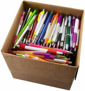 Lot Of 1000 Wholesale Assorted Plastic Retractable Pens Pen Black Ink
