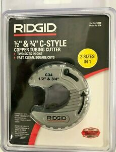 Ridgid 1 2 In 3 4 In C style Adjustable Copper Tubing Cutter