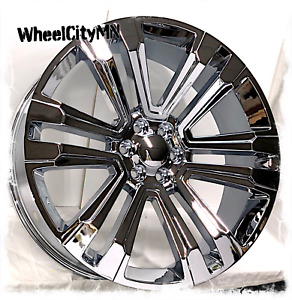 26 Inch Chrome 2018 Gmc Denali Cadillac Escalade Oe 5822 Replica Wheels 6x5 5