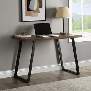 Home Office Computer Desk Industrial Pc Writing Desk Workstation Table Brown