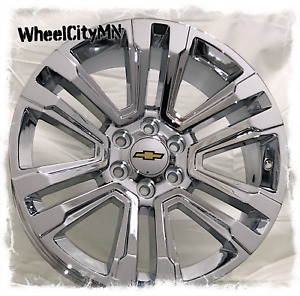 26 Inch Chrome 2018 2017 Chevy Silverado Tahoe Ltz Oe Replica Wheels 6x5 5 30