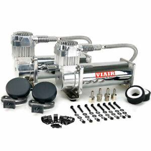Air Lift 200 Psi Dual Compressors Viair 444c Chrome 23444