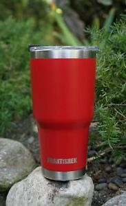 30 oz Stainless Steel Tumbler Insulated Coffee Cup Large Travel Mug Glossy Red $16.99