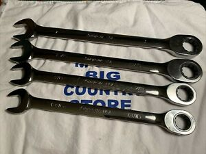 2014 15 Snap On 4pc Sae 0 Offset Ratcheting Chrome Combo Wrench Set Oxr704