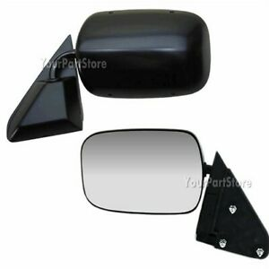 88 98 Chevy Gmc Pickup Pu Truck Black Manual Door Mirror Driver Side Lh Left