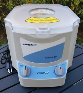 New Vwr Clinical 50 Centrifuge 82013 800 6 position Rotor 6 X 20ml 4000 Rpm