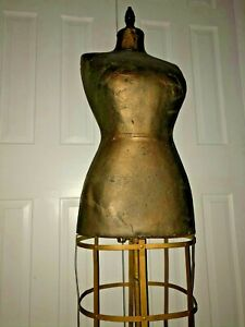 Vintage Antique The New York Dress Form Co Model Mannequin W Cage