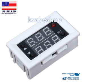 Mini Dc 12v 20a Digital Relay Module Led Dual Display Timer Timing Delay Cycle