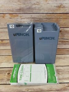 Upunch 20 Slot Punch Card Holder And 47 Count Refill Time Cards For Hn3000