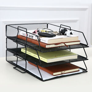Us 1 Layer Metal Document Trays Desktop Stackable Letter Trays File