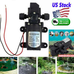 12v 60w 5l min Automatic Diaphragm Pump Mini Electric Car Washing Water Pump