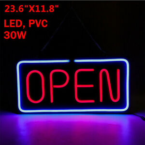 Open Sign 24x12 Led Light 30w Decorate Led Pvc Neon Bright Business Hanging Us