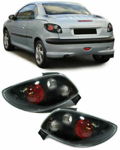 Black Tail Lights Rear Lamps For Peugeot 206cc 2000 2007 Model
