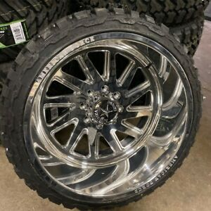 24x14 American Force Aka 8x170 Ford Powerstroke Diesel Forged Rims Tires Truck