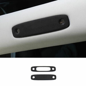 For Tesla Model 3 2017 2021 Gray Suede Front Rear Reading Lamp Frame Cover Trim