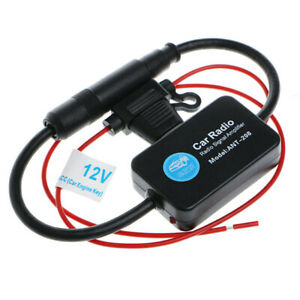 Ant 208 Active Car Radio Antenna Am Fm Amplifier Booster 12v Portable New Set