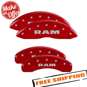 Mgp 55001sramrd Red Caliper Covers For 2011 2018 Dodge Ram 1500
