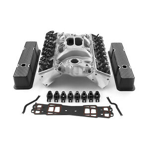 Fits Chevy Sbc 350 Straight Cylinder Head Top End Engine Combo Kit Street