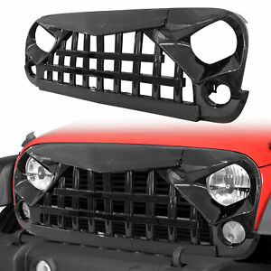 2007 2018 Jeep Wrangler Jk Unlimited Glossy Black Samurai Grille Front Grill
