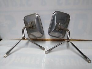 Vintage 1970s 1980s Chevy Ford Dodge Pickup Truck Stainless Steel Mirrors Dp
