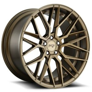 New Niche Wheels M191 Gamma 20x9 10 5 5x114 3 35 40 Matte Bronze Staggered