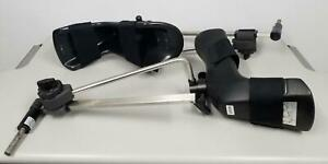 Steris Multi position Stirrups Surgical Table Accessory Black Left And Right