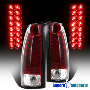 For 1994 1998 Chevy Tahoe C10 Suburban Led Tail Lights Red Replacement