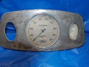 1933 1934 Ford Flathead 90 Mph Speedometer Amp Gauge Dash Panel
