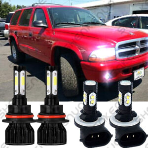 For Dodge Dakota Durango 2001 2003 6000k 9007 Led Headlight Fog Light Bulbs 881