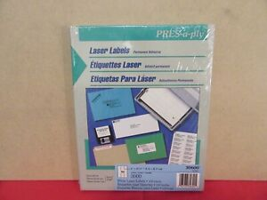 Pres a ply 3000 Laser Labels same Size As Avery 5160 Sealed