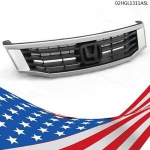 Front Upper Bumper Chrome Black Grill Grille Fit Honda Accord 2008 2009 2010