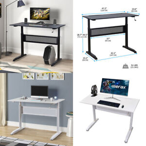 Height Adjustable Standing Desk Computer Desk Writing Laptop Table Black white