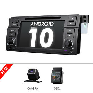 CAMOBDBest Single Din Car Stereo For BMW E46 M3 Android 10 DVD GPS Radio Audio $271.17