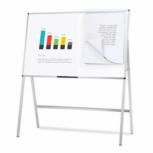Viz pro Magnetic H stand Whiteboard Adjustable Dry Erase Easel36 X 48 Inches
