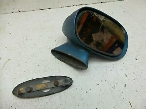 70 81 Camaro Firebird Passenger Blue Pass Right Rh Mirror Bullet Style W Mount