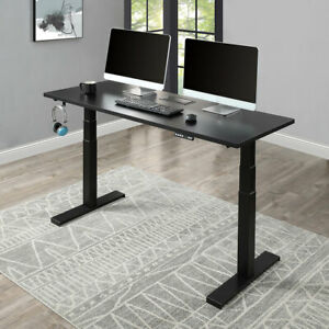 Electric Standing Desk Home Office Height Adjustable Computer Desk Table Black