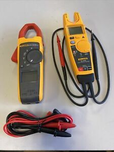 Fluke 373 True Rms Clamp Meter With T6 600 Electrical Tester
