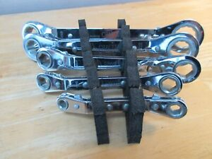 Craftsman Lot Of 5 Offset Reversible Ratchet Box End Wrench Sae