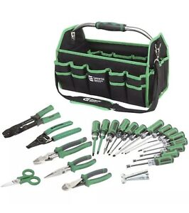 Electrical Tool Set Handheld Heavy duty Webbing Durable Handles 22 piece