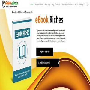 Ebookss store Fully Automated wordpress Website woocommerce paypal