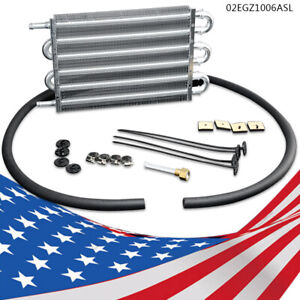 6 Row Fit For Radiator Remote Aluminum Transmission Oil Cooler Mounting Kit