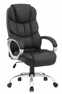 Executive Office Desk Task Computer Chair High Back Leather Office Chair
