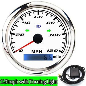 85mm 0 120mph Gps Speedometer With Turning Light For Marine Boat Car Motorcycle