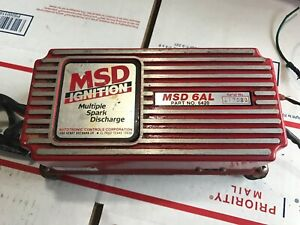 Msd 6420 6al Ignition Control Box W Rev Limiter Used