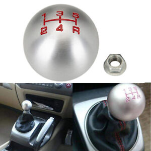 5 Speed Shifter Lever Shift Knob Round Ball Aluminum Fits For Honda Accord Civic