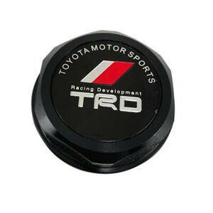 1pcs Trd Racing Black Engine Oil Filler Cap Oil Tank Cover Aluminium For Toyota