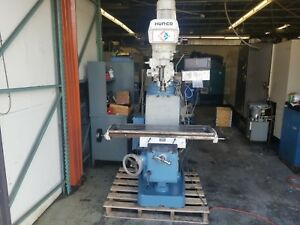 Hurco Sm1 3hp Vertical Milling Machine 9 X 42 Table Sony Digital Read Out Dro