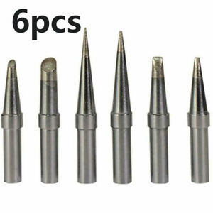Soldering Iron Tips 6pcs Replacement Silver Supplies Equipment Industrial